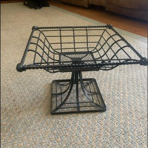 Wrought Iron Basket Stand